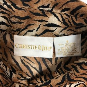 Christie&Jill Tops - Christie and Jill Animal Print Blouse, Women's 8
